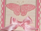 Stamp out Breast Cancer card 2 piece